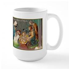 Vintage Creche, Christus Natus Hodie Mug