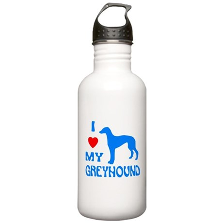 I LOVE MY GREYHOUND Stainless Water Bottle 1.0L