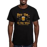 But Um Drinking Game Men's Fitted T-Shirt (dark)