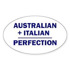 Italian + Australian Oval Decal