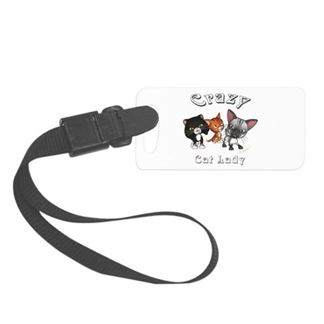 Crazy Cat Lady Small Luggage Tag