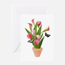 Calla Lily Butterfly Greeting Card