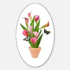 Calla Lily Butterfly Decal