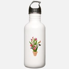 Calla Lily Butterfly Water Bottle