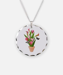 Calla Lily Butterfly Necklace