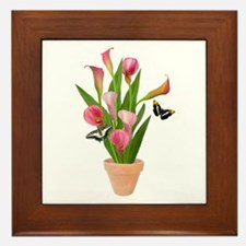 Calla Lily Butterfly Framed Tile