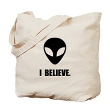 I Believe In Aliens Tote Bag