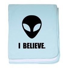 I Believe In Aliens baby blanket