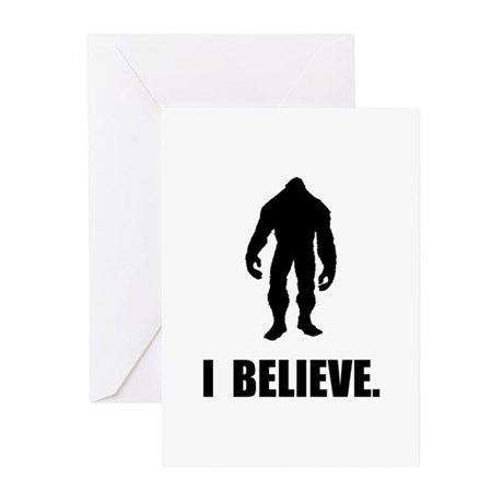 I Believe In Bigfoot Greeting Cards (Pk of 10)