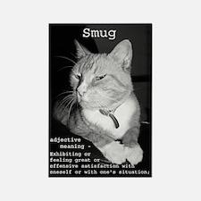 Smug Cat Rectangle Magnet