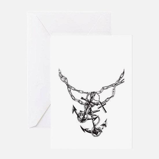 Anchor and Chains Greeting Card