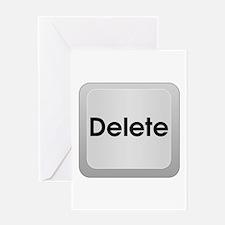 Keyboard Delete Key Greeting Card