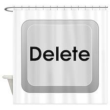 Keyboard Delete Key Shower Curtain