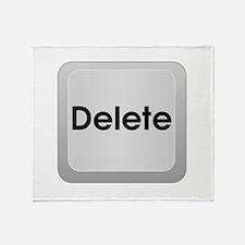 Keyboard Delete Key Throw Blanket