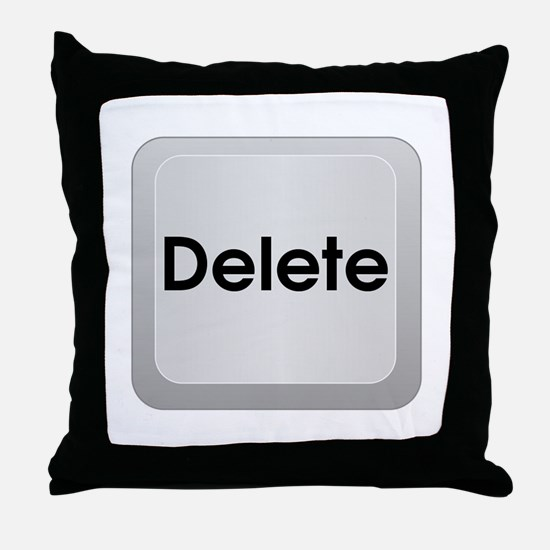 Keyboard Delete Key Throw Pillow