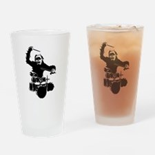Drumming Gorilla Drinking Glass