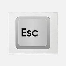 Keyboard Escape Key Throw Blanket