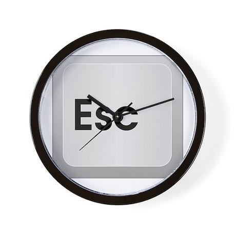 Keyboard Escape Key Wall Clock