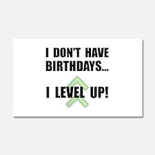 Level Up Birthday Car Magnet 20 x 12