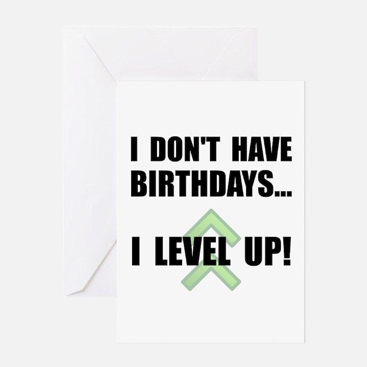 Level Up Birthday Greeting Card