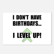 Level Up Birthday Postcards (Package of 8)