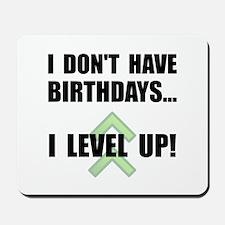 Level Up Birthday Mousepad
