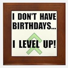 Level Up Birthday Framed Tile