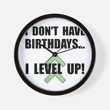 Level Up Birthday Wall Clock