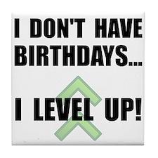 Level Up Birthday Tile Coaster