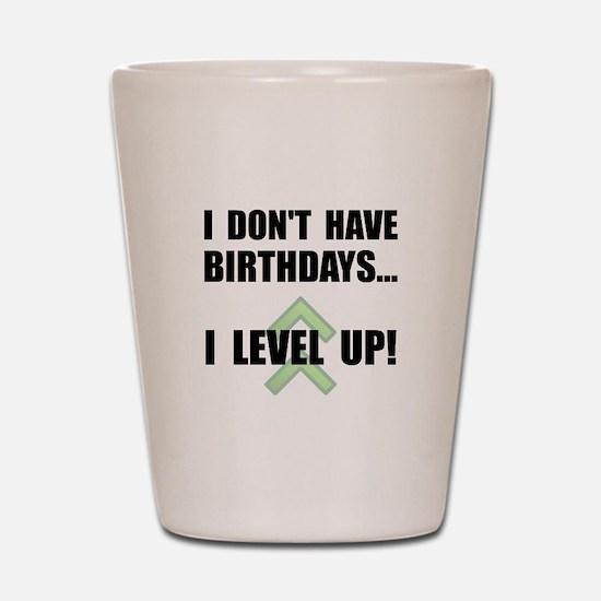 Level Up Birthday Shot Glass