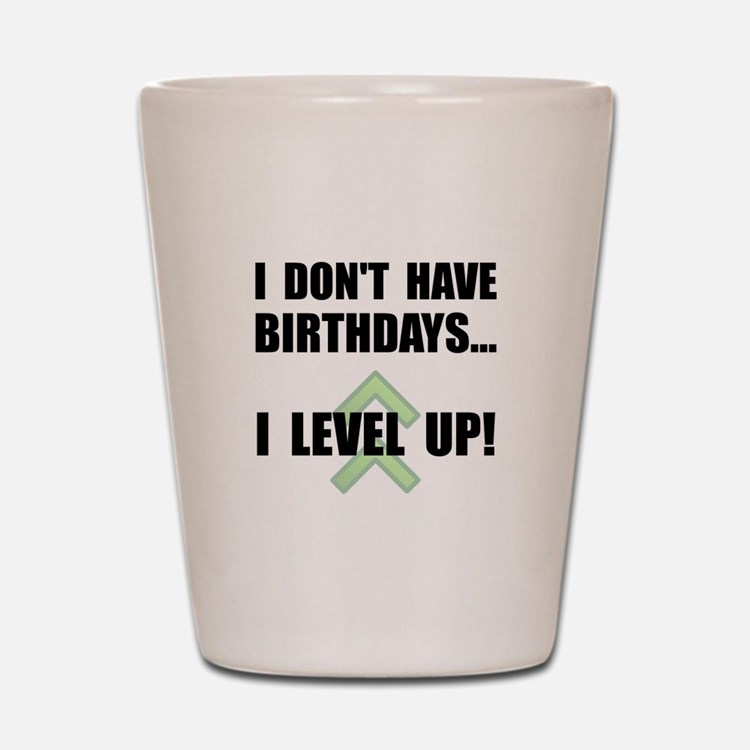 Level Up Birthday Shot Glass