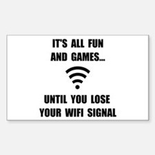 Lose Your WiFi Sticker (Rectangle 10 pk)