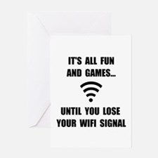 Lose Your WiFi Greeting Card