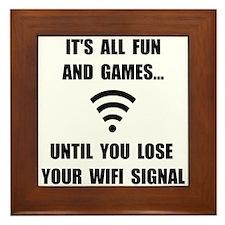 Lose Your WiFi Framed Tile