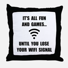 Lose Your WiFi Throw Pillow