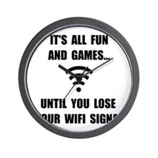 Lose Your WiFi Wall Clock
