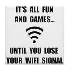 Lose Your WiFi Tile Coaster