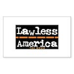 Lawless America Movie Logo Sticker (Rectangle)