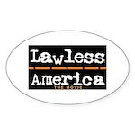 Lawless America Movie Logo Sticker (Oval)