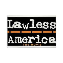 Lawless America Movie Logo Rectangle Magnet