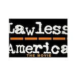 Lawless America Movie Logo Rectangle Magnet (10 pa