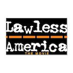 Lawless America Movie Logo 20x12 Wall Decal