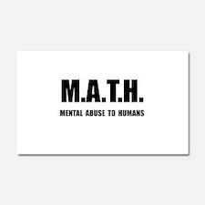 Math Abuse Car Magnet 20 x 12