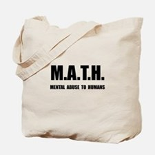 Math Abuse Tote Bag