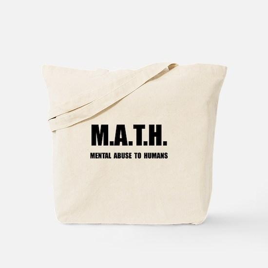 Math Abuse Tote Bag