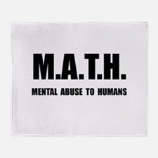 Math Abuse Throw Blanket