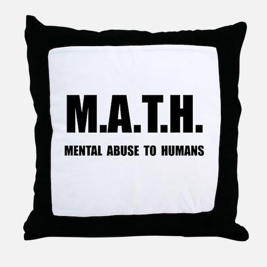 Math Abuse Throw Pillow