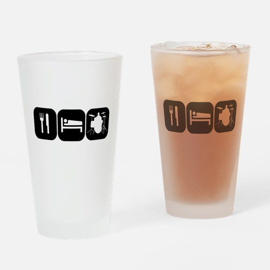Eat Sleep Drums Drinking Glass