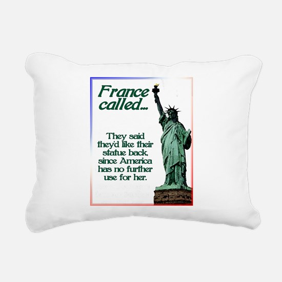France Called Rectangular Canvas Pillow