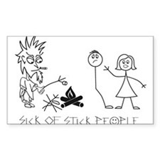 Sick of Stick People Camp Fire Decal
